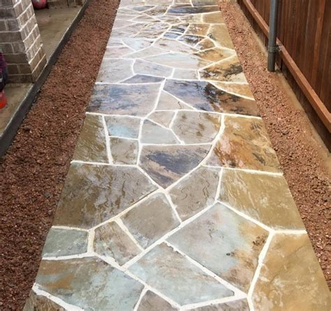 flagstone patio mortar joints flagstone classic rock stone yard