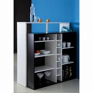 piano meuble bar contemporain noir et blanc l 110 cm With meuble salon moderne design 1 meuble bar comptoir trendymobilier
