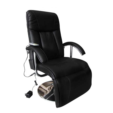 black artificial leather electric tv recliner