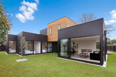 Victorian Kitchen Design Ideas - parapet roof exterior contemporary with glass balustrade modern front doors