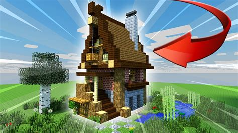 minecraft starter house tutorial easy youtube