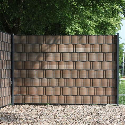 Sichtschutz Hart Pvc by Pvc Sichtschutzstreifen Woodline Hart Kunststoff Braun