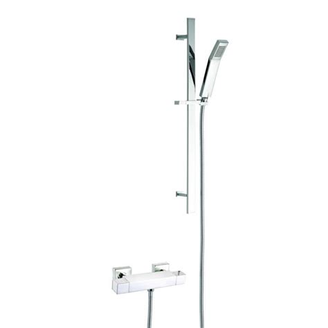 How To Remove Shower Riser Rail - pura bathrooms thermoforce 2 square shower valve with