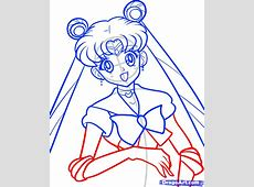 How to Draw Sailor Moon, Sailor Moon, Step by Step, Anime