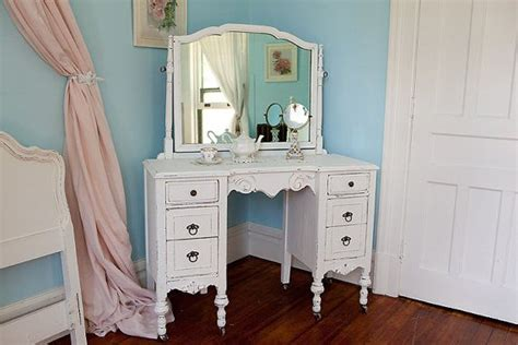 White Vanity Makeup Station by Antique Vanity Shabby Chic White Distressed Desk Antique