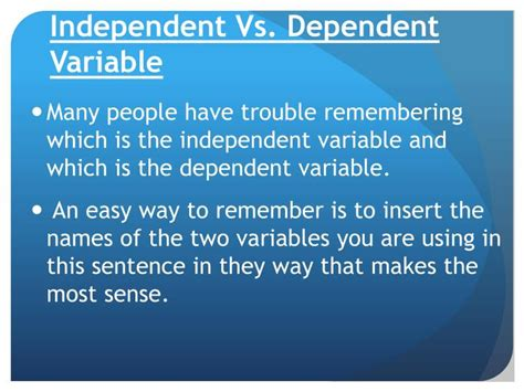 Ppt  Independent Vs Dependent Variable Powerpoint Presentation Id2464636