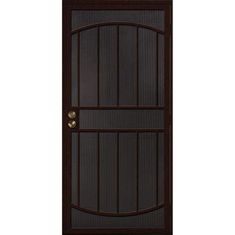 lowes security doors shop gatehouse gibraltar bronze steel security door