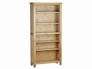 Natural Oak Deep Tall Bookcase - LPC Furniture