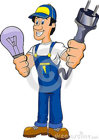 electrician cartoon stock images image