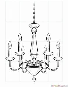 How to draw a chandelier | Step by step Drawing tutorials