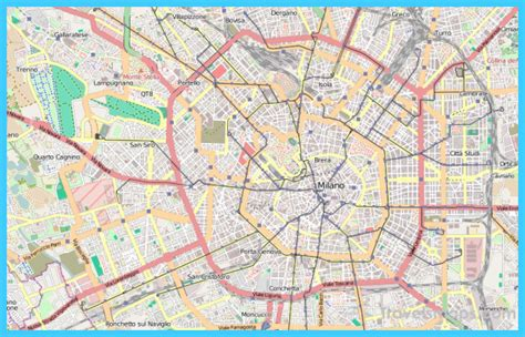 map  milan travelsmapscom