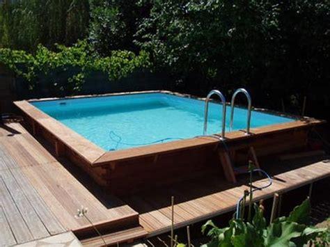 piscine en bois carree piscine carr 233 en bois