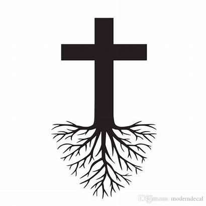 Cross Roots Jesus Decoration Wall Stickers Christ