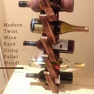 modern twist wall mount wine rack made using pallets With what kind of paint to use on kitchen cabinets for willow tree candle holders