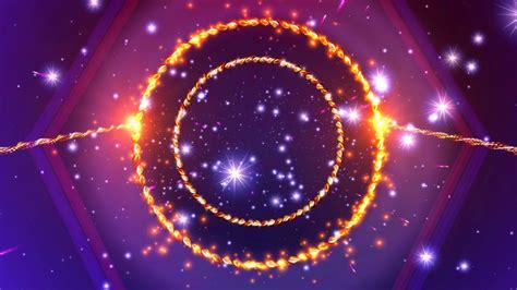 wallpaper orange sparkling ring moving