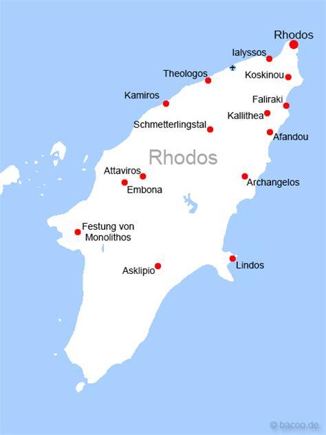 Rhodos Karte von Rhodos