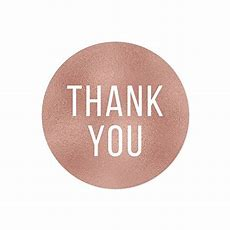 Andaz Press Round 2inch Circle Label Stickers, Faux Rose Gold Foil, Thank You, 40pack
