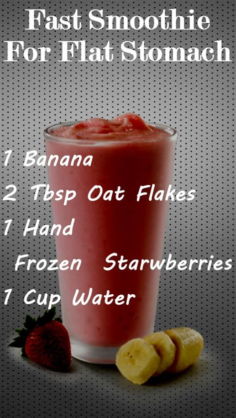 fast smoothie  flat stomach healthy healthy snacks