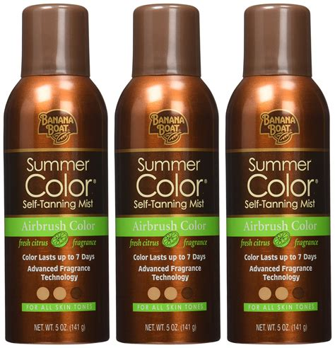 Banana Boat Summer Color Self Tanning Mist by Banana Boat Self Tanning Sunless Spray For All Skin Tones