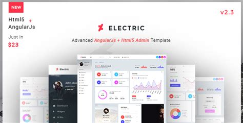 Html Template For Admin Panel by Electric Admin Panel Dashboard Angular Js Template By