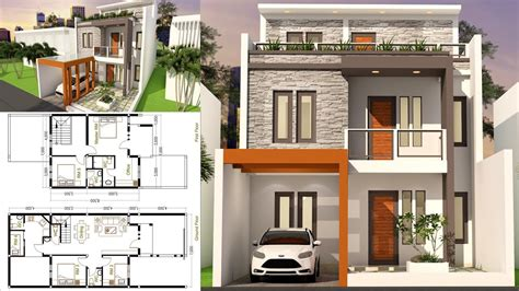 Samarchitect Home Design 3d Plot Size 7x17 With 5