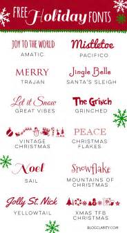 12 free holiday fonts blog clarity