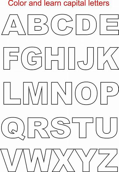 Letters Printable Alphabet Coloring Pages Letter Block