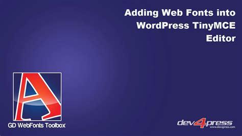 Adding Web Fonts Into Wordpress