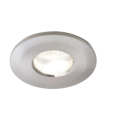 ip67 bathroom recessed spotlight in satin chrome