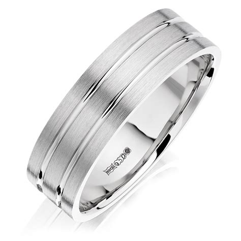 men s palladium wedding ring 0005112 beaverbrooks the jewellers