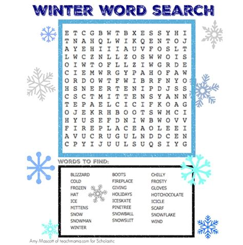 winter word search puzzle central mississippi regional