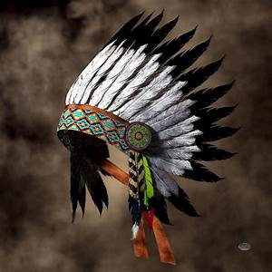 War Bonnet Digital Art by Daniel Eskridge