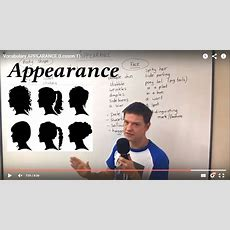 Vocabulary Appearance (lesson 1) Youtube