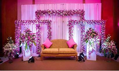 Stage Indian Setup Decor Pink Decoration Decorations