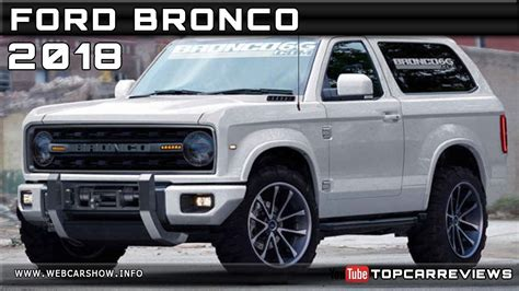 2018 Ford Bronco Review Rendered Price Specs Release Date