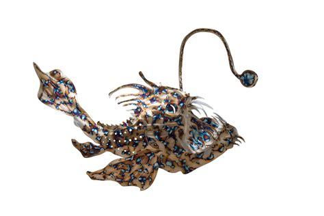 fish angler metal sculpture anglerfish sculptures
