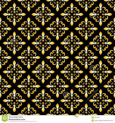 Fleur De Lis Seamless Vector Pattern French Vector