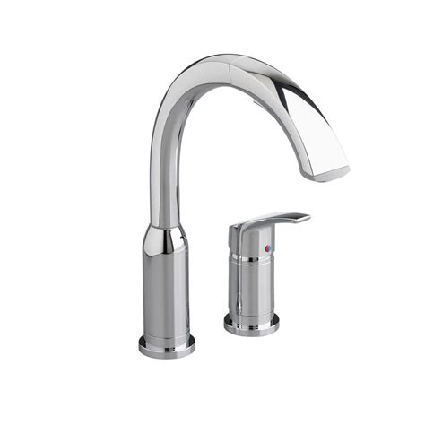 american standard single handle kitchen faucet american standard arch single handle pull out sprayer kitchen faucet in polished chrome 4101 350