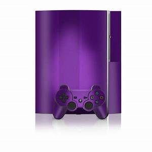PS3 Skin Purple Neon Flames