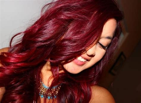 vibrant red hair  loreal hicolor highlights