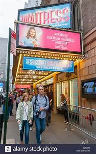 Theatergoers outside the Brooks Atkinson Theatre to see ...