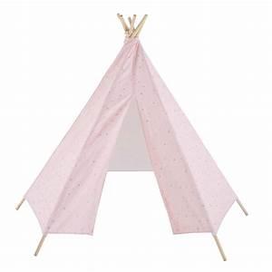 Tipi Enfant Fille : tipi enfant rose p le motifs dor s lilly maisons du monde ~ Melissatoandfro.com Idées de Décoration