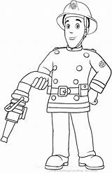 Firefighter Coloring Printable Pages Getdrawings Fireman sketch template