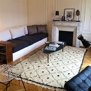 tapis berbere decoration salon madecoamoi madecoamoi With tapis berbere avec gigogne canape