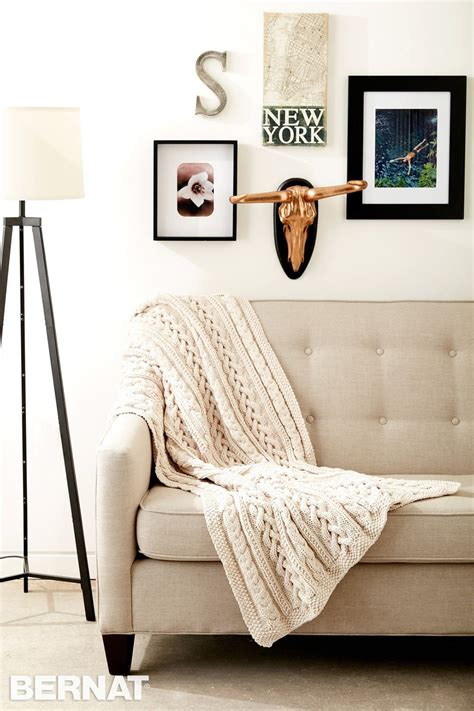 Cable Knit Coverlet by Maxim Free Braided Cable Knit Throw Pattern