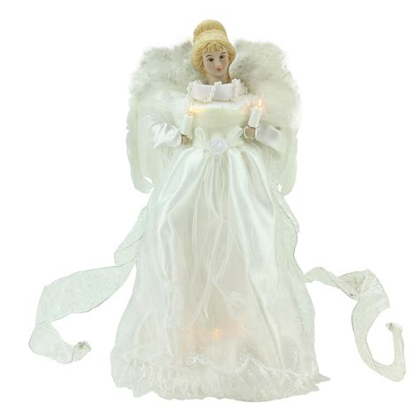 Christmas Tree Toppers Angels by 14 Quot Winter Solace Warm White Lighted Porcelain Angel