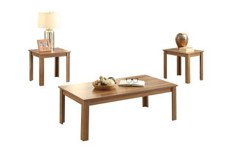 malena  piece coffee   table set  oak  acme