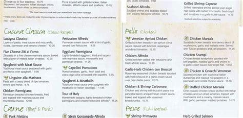 oliver garden menu olive garden italian restaurant chaign restaurant