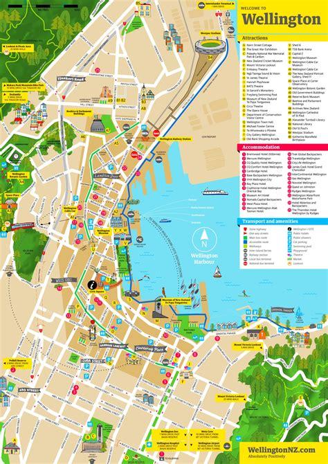 wellington downtown map