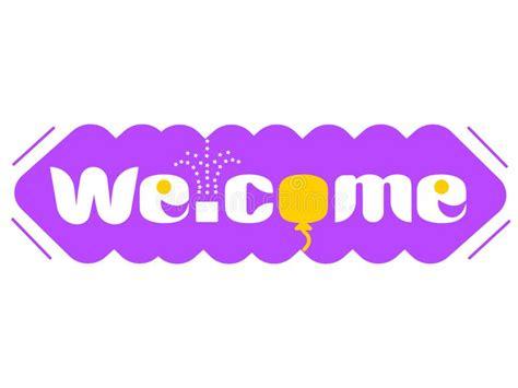 Welcome word. stock illustration. Illustration of english ...